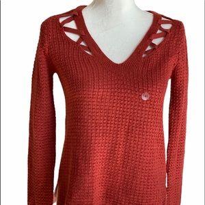 Aeropostale womens V-Neck Soft Sweater-knit Top